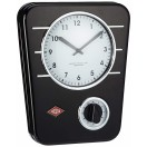 Стенен часовник с таймер черен Wesco Classic Line