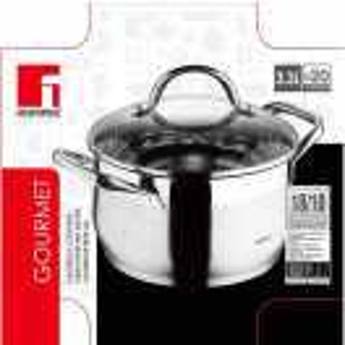 Тенджера Gourmet, Bergner 20 см.,3.3 л