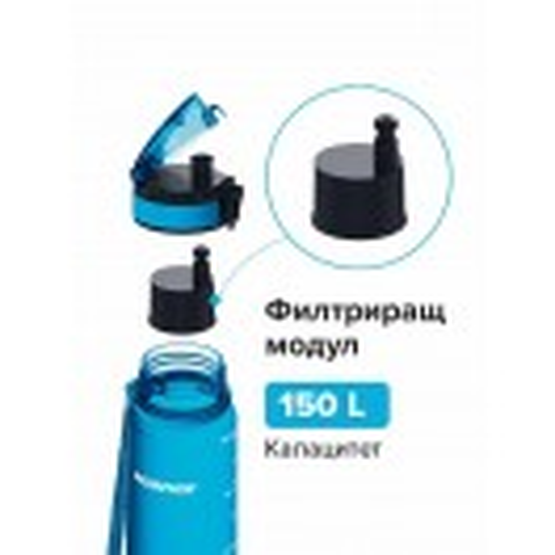 Филтрираща бутилка City Аквафор 0.5 л зелена