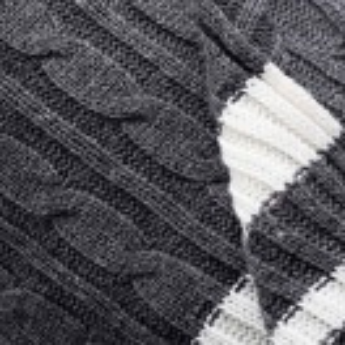 Плетено одеяло Benetton casa 140х190 см в тъмно сиво