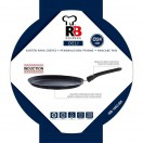Тиган за палачинки 24 см черен Renberg DELI